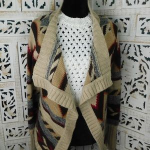Brown and beige sweater Size L